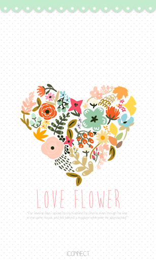 Love Flower go launcher theme
