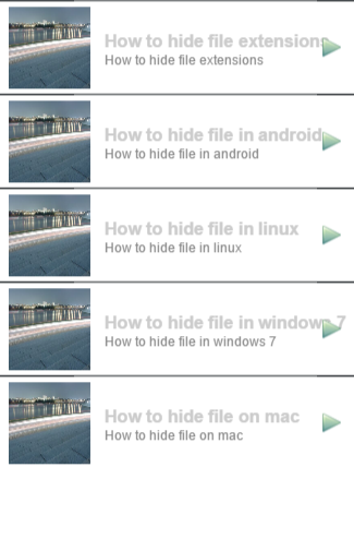 how to hide file