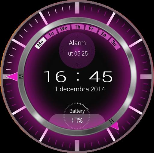 Neon Pink Clock Zooper Widget