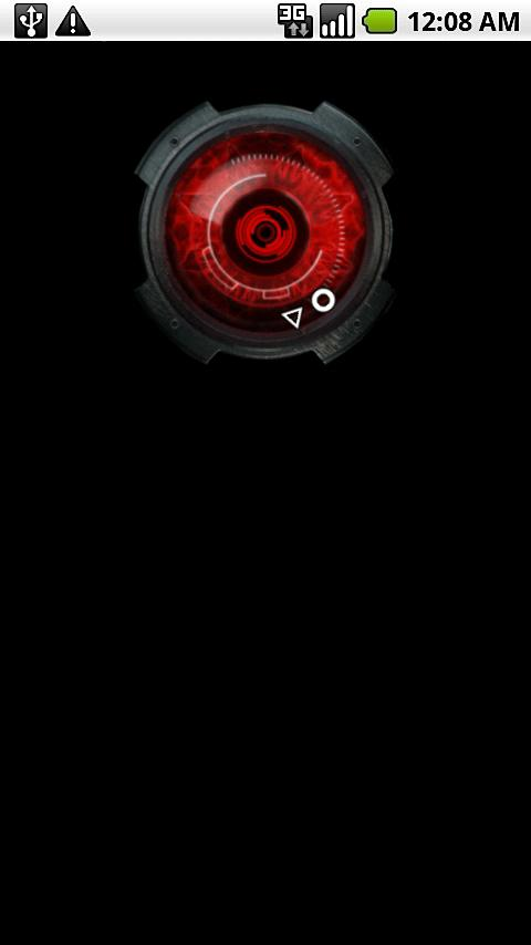 Droid X Clock Widget - screenshot