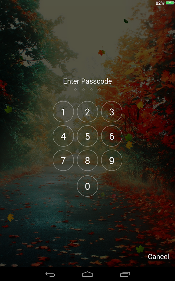 Falling Leaves Lock Screen - screenshot