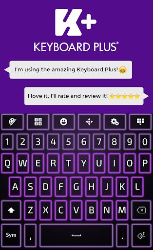 霓虹灯紫键盘