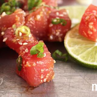 Ahi Tuna Ceviche with Sesame and Mint