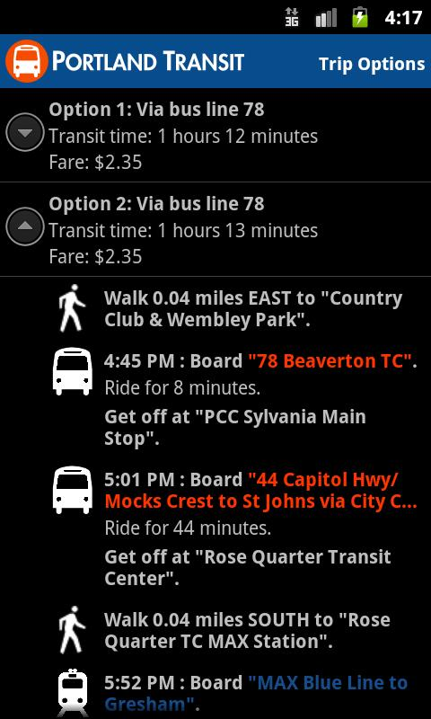 Portland Transit- screenshot