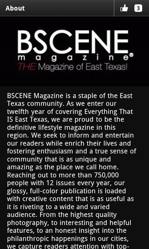 BSCENE Magazine - screenshot