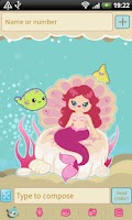 Screenshot of GO SMS Pro Sweet Mermaid Theme