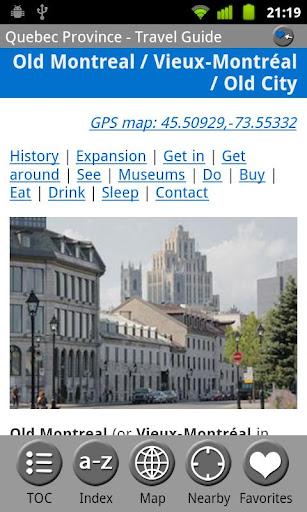 【免費旅遊App】Quebec Province - Guide & Map-APP點子
