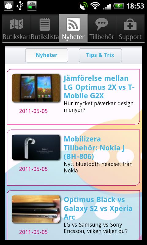 Mobilizera - screenshot