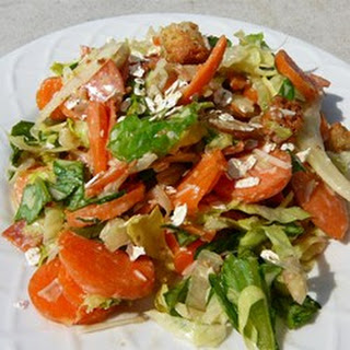 Carrot Pepperoni Caesar Salad
