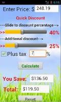 Screenshot of Quick Discount Calculator