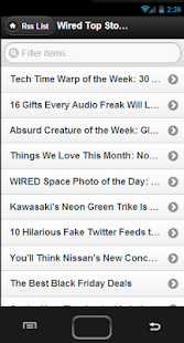 RSS Reader - screenshot thumbnail