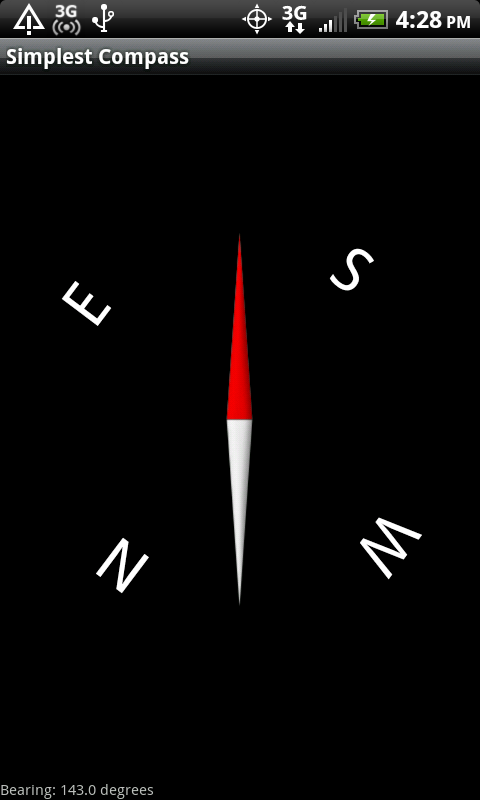 Simplest Compass - screenshot
