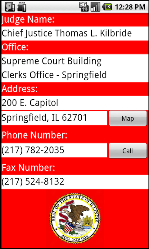Illinois IL Courthouses Judges- screenshot