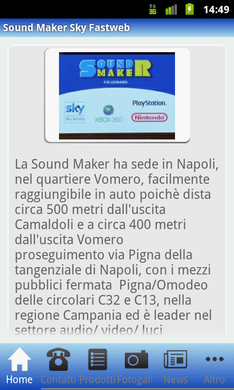 Sound Maker Sky Fastweb - screenshot