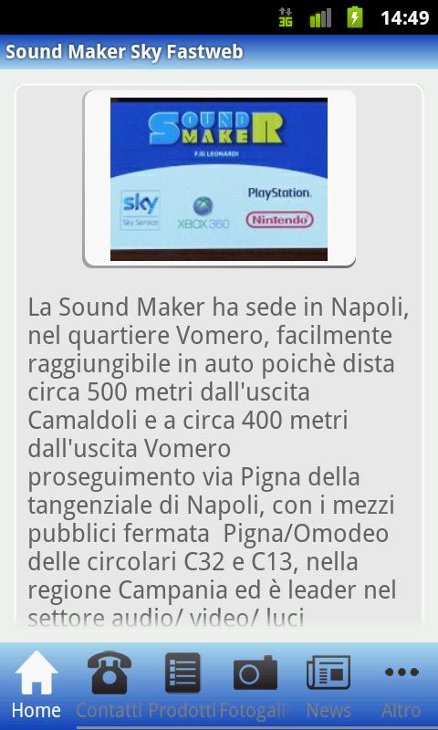 Sound Maker Sky Fastweb- screenshot