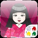 【無料】日本人形 forきせかえランチャーPRO icon