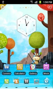 Fishing Bunny 3D Live Theme - screenshot thumbnail