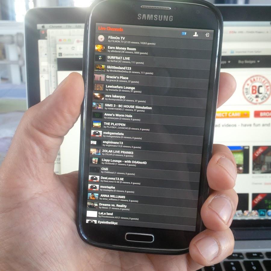 FilmOn Cavecaster- screenshot