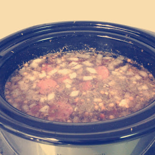 Slow Cooker Lentil & Sausage Stew.