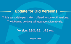 screenshot of Update for Old Versions