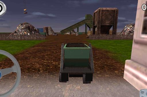 垃圾場卡車停車場