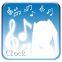 Hatsune Miku digital clock logo