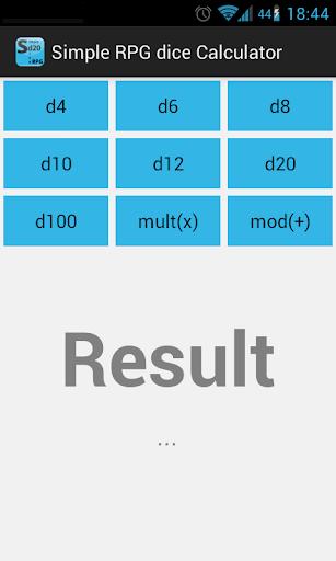 Simple RPG dice calculator