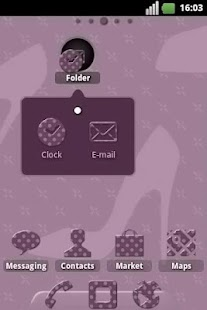 Fashion Pois ADW Theme- screenshot thumbnail