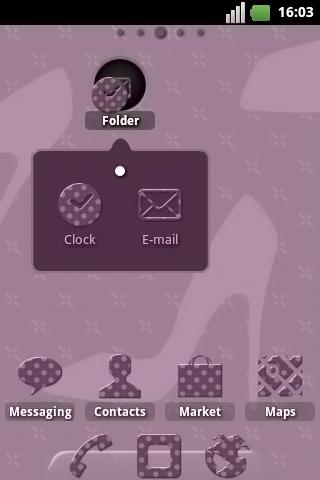 Fashion Pois ADW Theme- screenshot