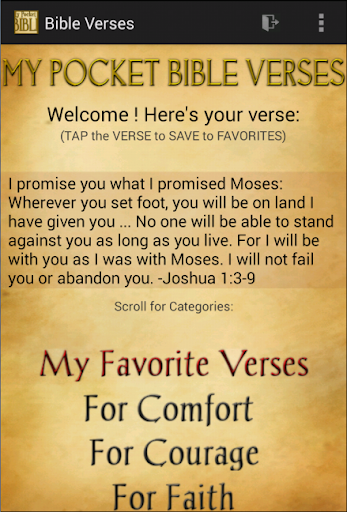 Pocket Mood Bible Verses FREE