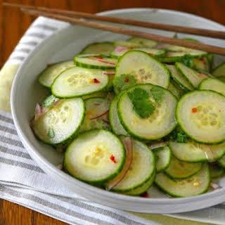 Spicy Cucumber Salad.