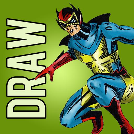 How to Draw Comics Superheroes LOGO-APP點子