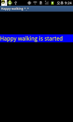 Happy walking for blind person