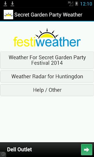 Secret Garden Party Weather