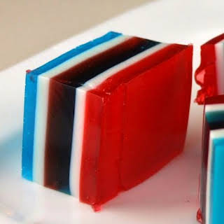 Red, White and Blue Finger Jello.