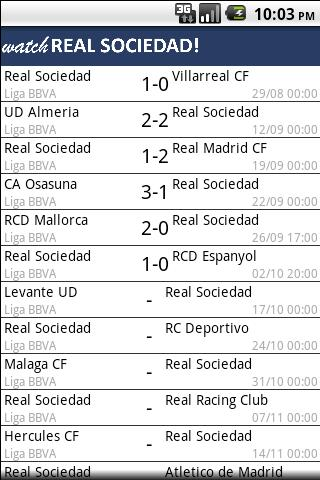 Watch Real Sociedad ! - screenshot
