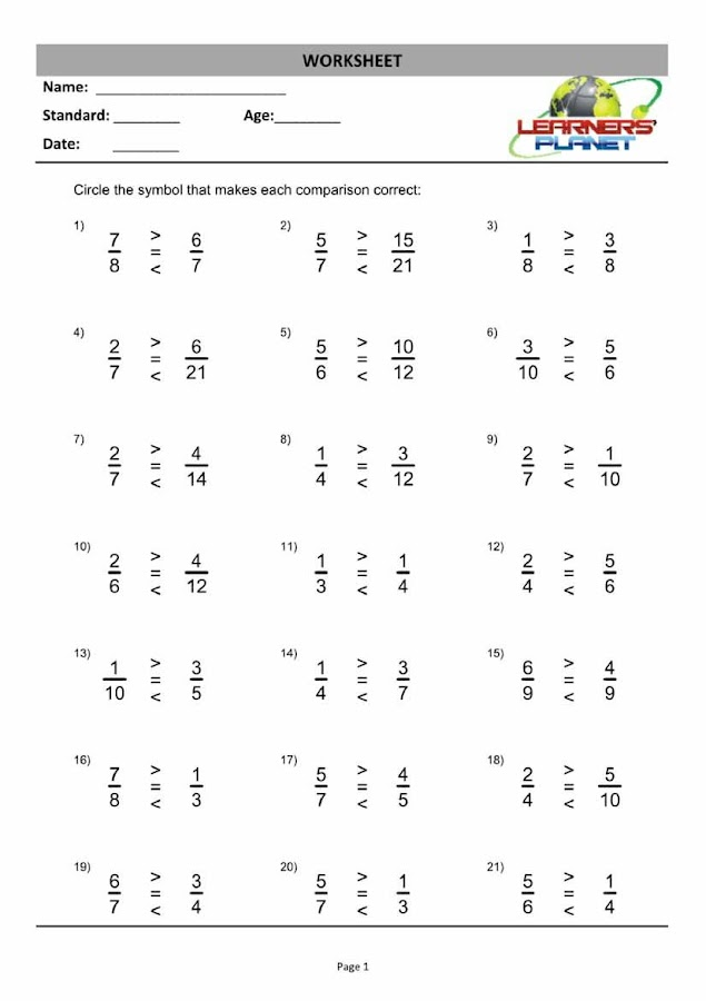 Grade3MathsFractionsWB Android Apps on Google Play – Fraction Worksheet Grade 1