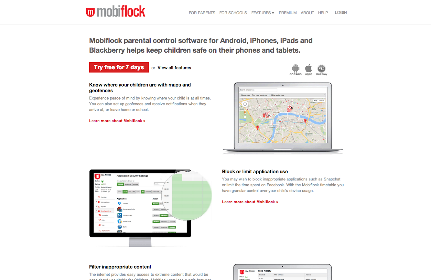 Mobiflock Parental Control - screenshot