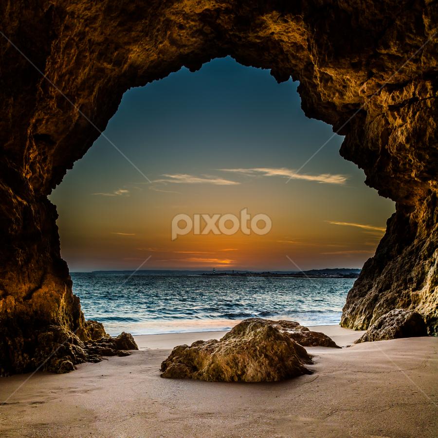 The Magic Cave by André Afonso - Landscapes Beaches ( ferragudo, landscape, beach )