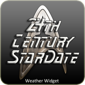 Star Trek clock weather widget