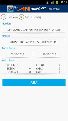 Flight Reservation Ani Tour - screenshot