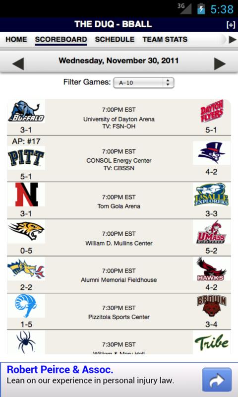 Duquesne Football & Basketball - screenshot