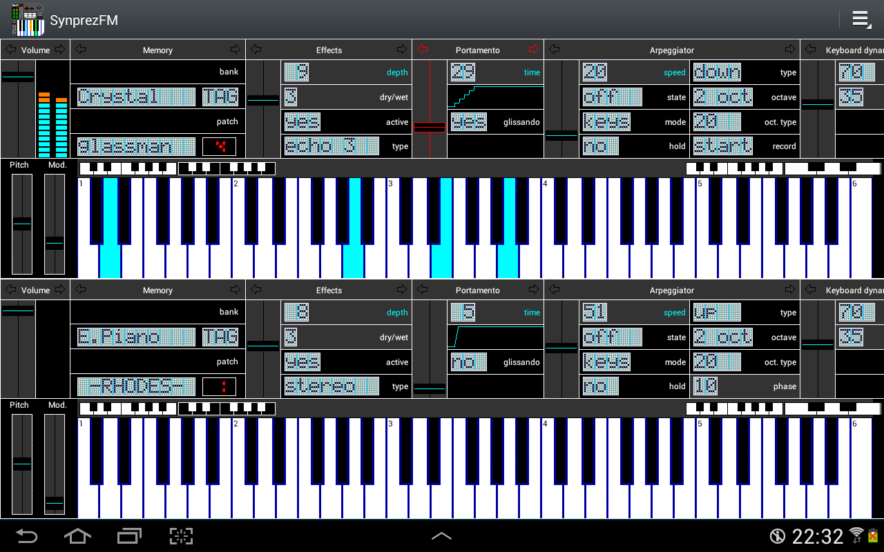 FM Synthesizer [SynprezFM II]- screenshot