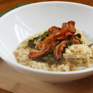 Risotto with Southern Greens and Bacon