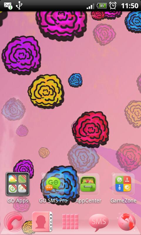 GO Launcher EX Theme Flowers - screenshot