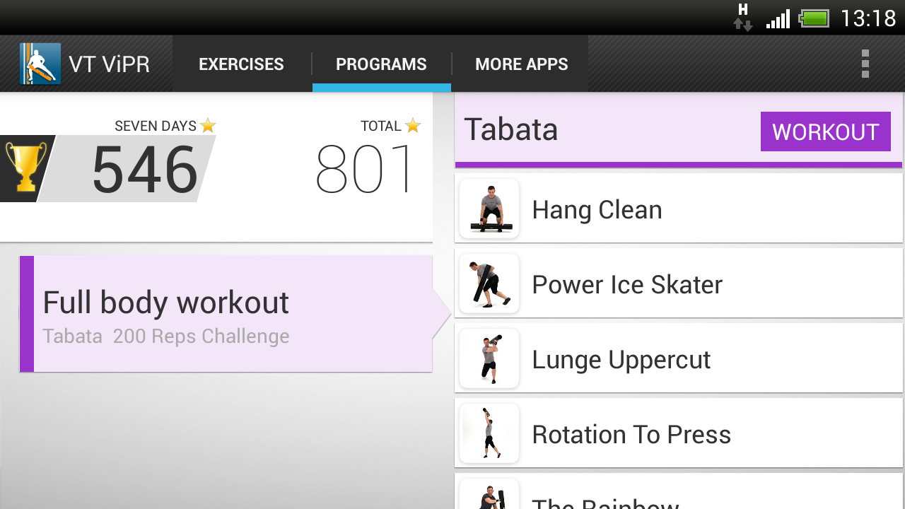 Virtual Trainer ViPR- screenshot