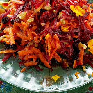 Shredded Beet & Carrot Salad.