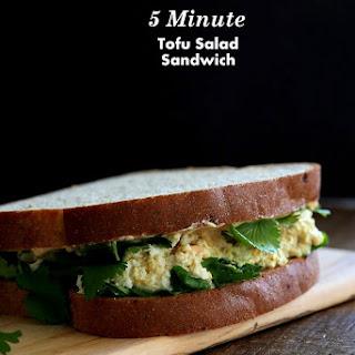 "5 minute Tofu ""egg"" Salad Sandwich"