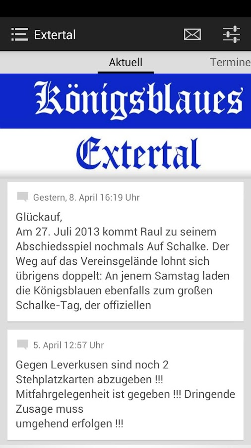 Fan Club Königsblaues Extertal - screenshot