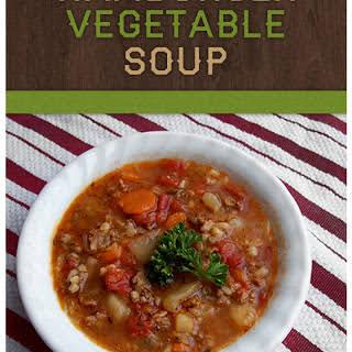 Hamburger Vegetable Soup.
